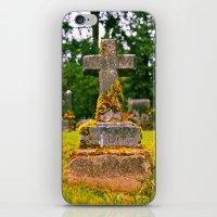Small Cemetery Cross iPhone & iPod Skin