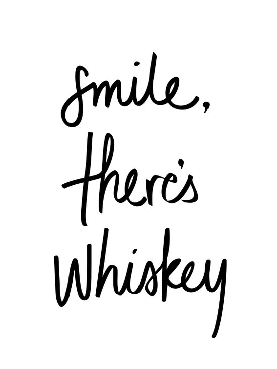 Smile - Whiskey Art Print