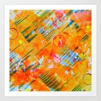 Fly Through Hoops Art Print