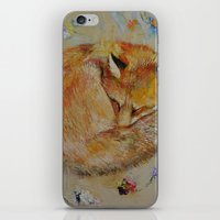 Sleeping Fox iPhone & iPod Skin