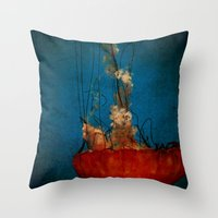 Under The Mystic Sea Throw Pillow