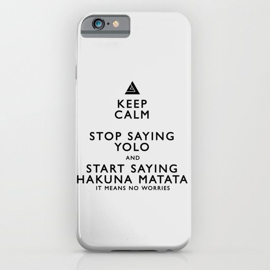Keep Calm Forget YOLO - BLACK iPhone & iPod Case