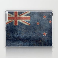 National flag of New Zealand - Retro vintage version to scale Laptop & iPad Skin