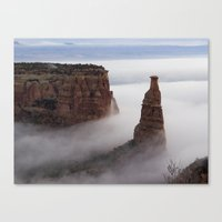 Independence In The Clou… Canvas Print