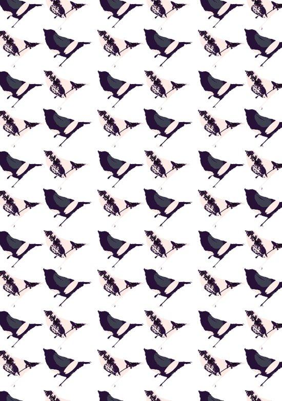 Pink and Purple Birds Art Print