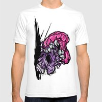 Skull CRUNCH ! Mens Fitted Tee White SMALL