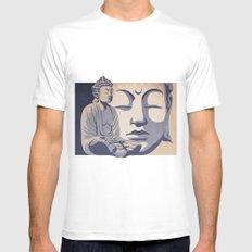 Zen Buddha: Awakened and Enlightened One  Mens Fitted Tee White SMALL
