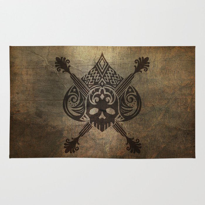 Pirate Skull Rug By Happiestfung