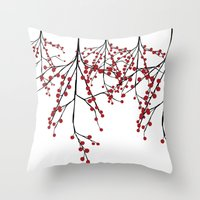Baies rouges Throw Pillow