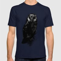 The Owl Mens Fitted Tee Navy SMALL