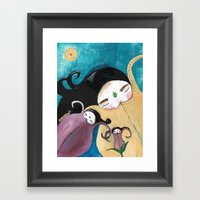 Sleeping Bhoomies Framed Art Print