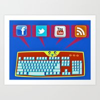 The keyboard conversation Art Print