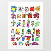 children at home Art Print