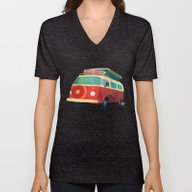 Unisex V-Neck featuring Kombi 3 by Buster Fidez