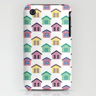 iPhone & iPod Case featuring The Colorful Beach House… by Haidishabrina