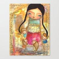 Music - Teacher And Chil… Canvas Print