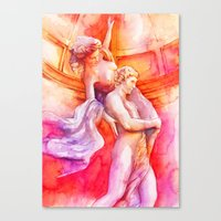 The Story Of Two Colors Canvas Print