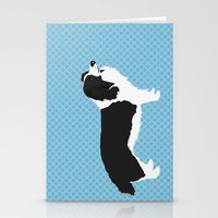 Border Collie Dog Illust… Stationery Cards