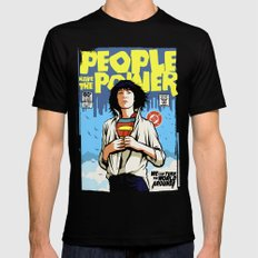 People Have The Power Black Mens Fitted Tee SMALL