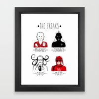 THE FREAKS Framed Art Print