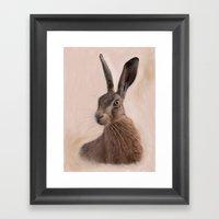 Eostre - The Hare Goddess  Framed Art Print