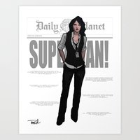 Best Darn Reporter Art Print
