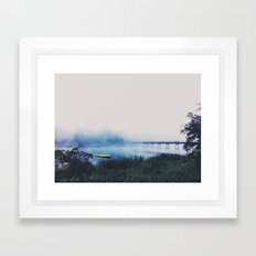 Fog Over the River Shannon Framed Art Print