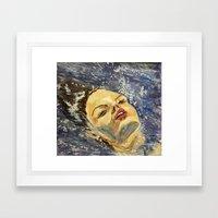 SUR LA MER Framed Art Print