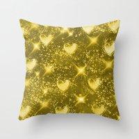 Shiny Gold Throw Pillow