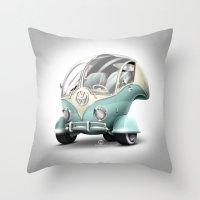 Volkswagen Bubble Throw Pillow