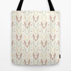 Boston Terrier Wood Pattern Tote Bag