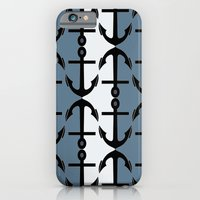 iPhone & iPod Case featuring Anchors: Teal, White and Perrywinkle by ParadiseApparel