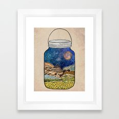 Star Jar Framed Art Print