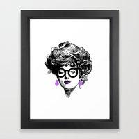 Gibson Girl Modern Framed Art Print