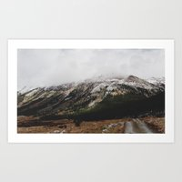 Snowcapped Mountains Art Print