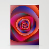 Pschedelic Spiral Stationery Cards