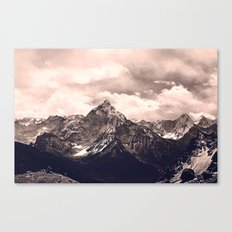 Pink Mountain Canvas Print