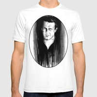 DARK COMEDIANS: Jason Se… Mens Fitted Tee White SMALL