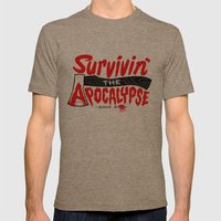 Survivin' Mens Fitted Tee Tri-Coffee SMALL