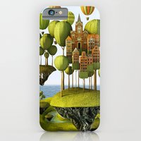 iPhone Cases featuring City in the Sky by Teodoru Badiu