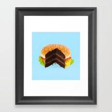 Hamburger Cake Framed Art Print