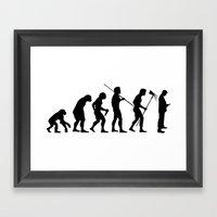 Evolution to Mobile  Framed Art Print
