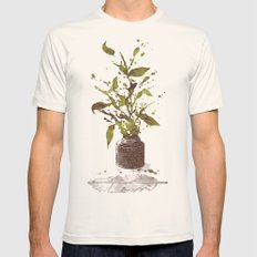 A Writer's Ink Mens Fitted Tee Natural SMALL
