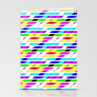 COLOURED STRIPES Stationery Cards