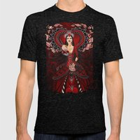 Queen Of Hearts Mens Fitted Tee Tri-Black SMALL