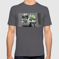 Luke Skywalker & Yoda Mens Fitted Tee Asphalt SMALL