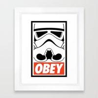 OBEY Storm Trooper  Framed Art Print