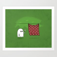Friendly Ghost Art Print