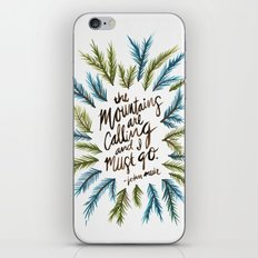Mountains Calling iPhone & iPod Skin