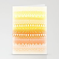 Triangle Gradient Gold M… Stationery Cards